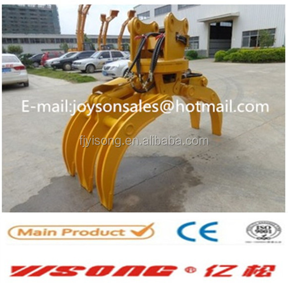 rotating wood grapples stone grapples for excavator