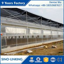 SINOLINKING Galvanized aluminum cheap greenhouse agricultural greenhouse