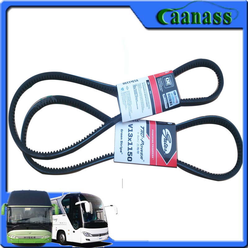 Golden Dragon Yutong Kinglong Ankai Higer auto spare parts Bus Gates V belt V13*1550