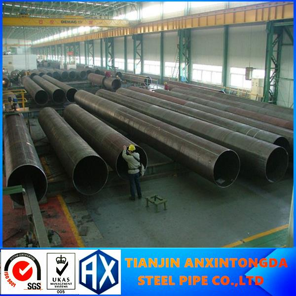 ASTM A53 erw steel pipe dimension q235 black round metal carbon erw steel pipe of golden supplier