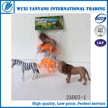 3D Plastic Natural World Puzzled Animal Playset toys Lion Tiger Leopard Zebra Figure toys