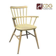 Unique designer creative aluminium retro wind arm chair loft the old industrial style vintage dining furniture
