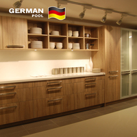 German Pool Factory Supply Hotel Interior Kitchen Design Fashionable Durable GP15 Kitchen Cabinet Simple Designs
