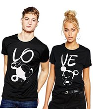 family cute couple t-shirt set clothing Apparel T shirt Design