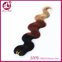 #1b/33/27 Ombre Human Hair three tone color body wave hair weft 3pcs wholesale price fast FedEx