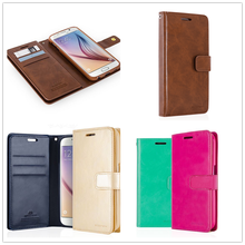 GOOSPERY Wallet Leather Flip Case Cover with Strap,Wallet Leather Case for Galaxy S3 S4 S5