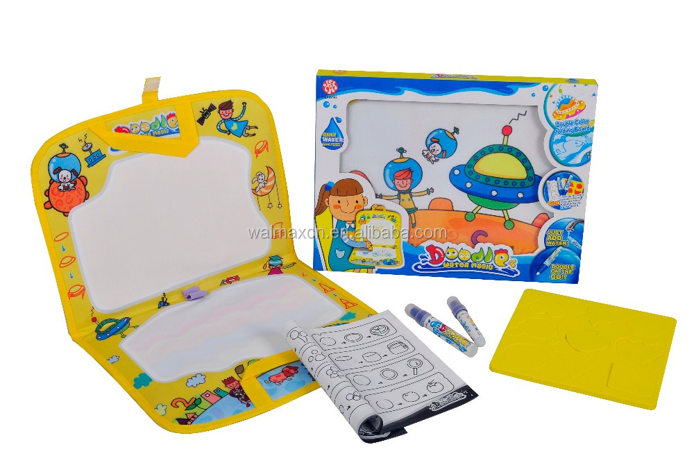 Kids Educational toys large water doodle for drawing and writing (Yellow)
