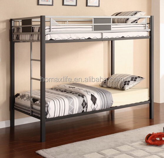 Bedroom furniture children double wrought / metal iron bunk bed twin over twin bunk bed