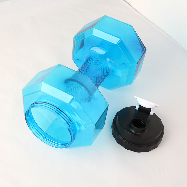 New arrival Dumbbell 2.2L water bottle BPA FREE plastic gym jug water bottles