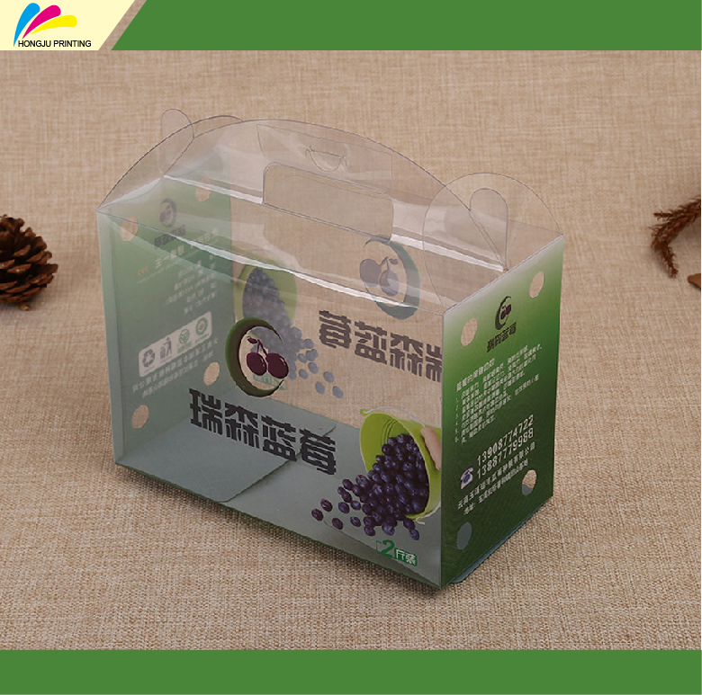 high quality custom color printed plastic transparent clear pvc box