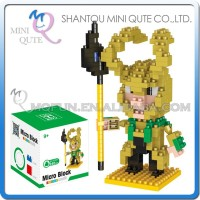Mini Qute 3d Marvel Avenger Super hero Loki plastic building block cartoon movie model kids boy educational toy gift NO.BY 8150A