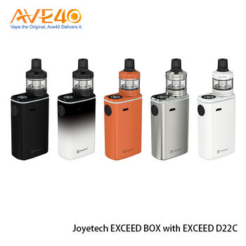 AVE40 Stock 100% Original Simple Top Filling and Refined Airflow Control System Joyetech EXCEED BOX with EXCEED D22C