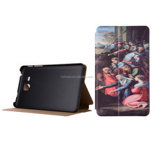 Oil painting PU Flip tablet cover for samsung galaxy tab A 7.0 T280 leather case
