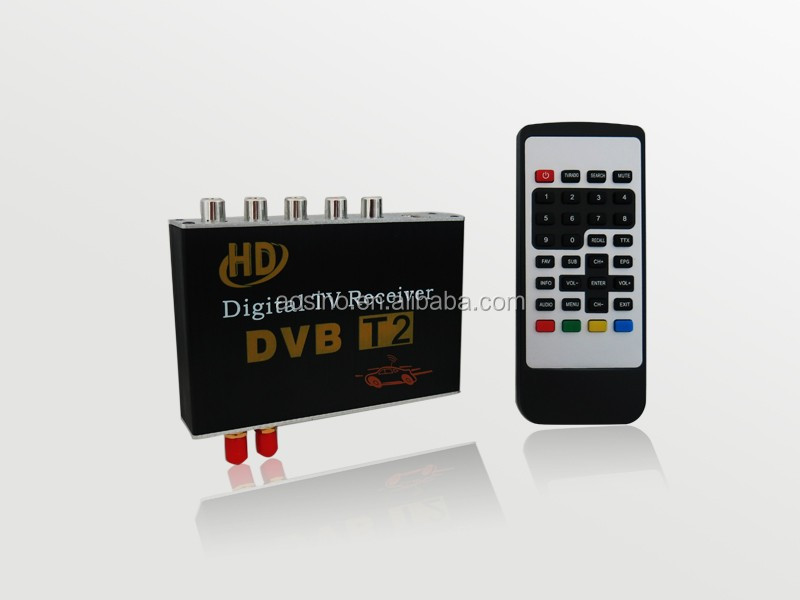 High speed dual tuner HD Car DVB-T2 TV Receiver fit for Thailand Russia Colombia Indonesia Singapore Mobile DIGITAL TV TUNER