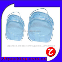2015 China PVC bag, Clear plastic zipper bag with handle, transparent PVC cosmetic bag