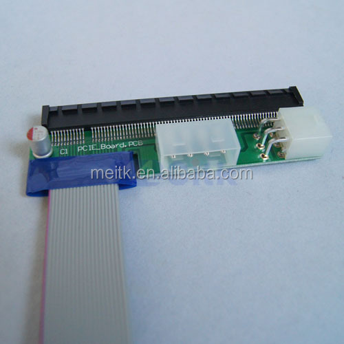 BRAND NEW PCI-Express 1x to 16x Riser Card Flex Ribbon Extension Cable