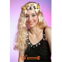 Wholesale price cheap blonde party wigs, bright wedding products,cosplay hair wig