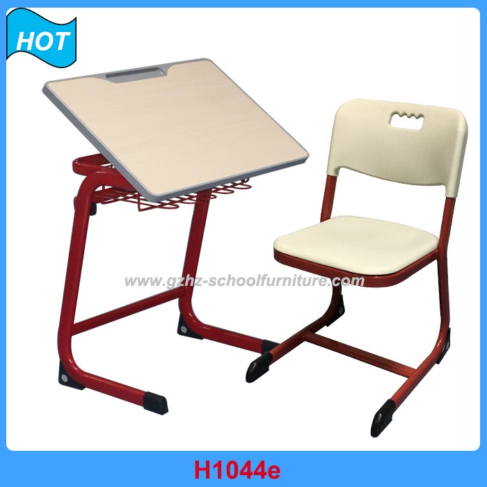 wooden school furniture drawing table and chair