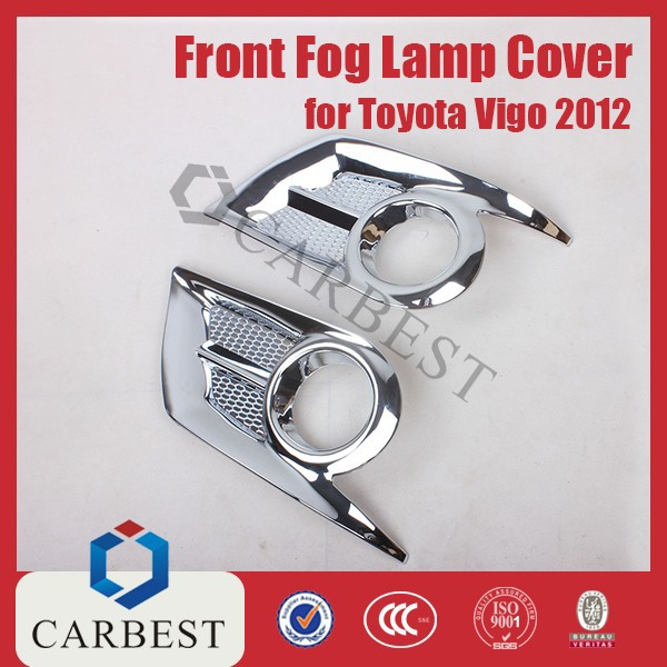 High Quality New ABS Chrome Fog Lamp Cover for Toyota Hilux 2012