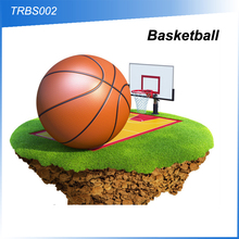 (110132) Hot sell promotional customized logo basketball in bulk