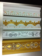 PU Carving Cornice Moulding interior decoration on wall and ceiling