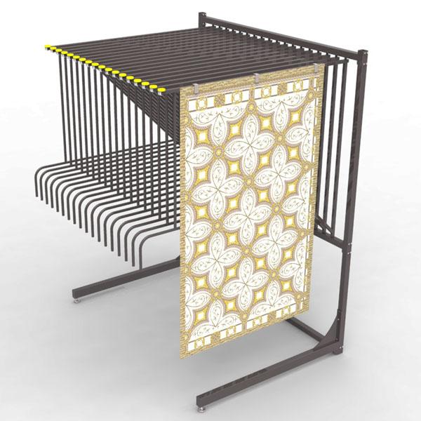 Retail Free Standing Strong Metal Rug Carpet Display Rack