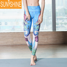 High Quality Polyester Spandex Gym Leggings Sublimation Yoga Pants