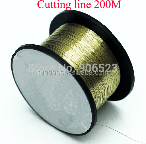 free shipping 2pcs/lot 200M Golden Molybdenum Line Cutting Wire For Iphone/Samsung LCD Screen separator UV glue cutting