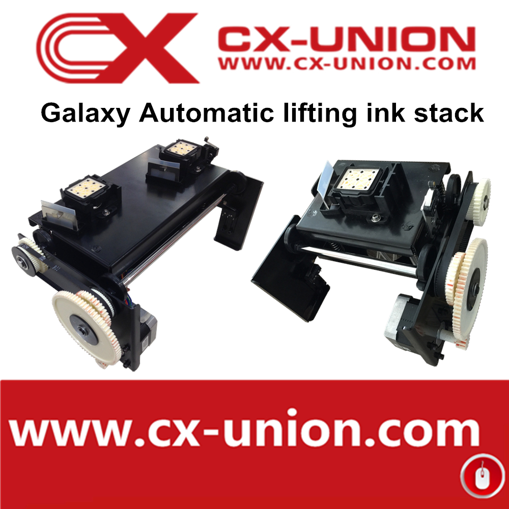 One DX5 head ink stack with original cap top Cleaning station For galaxy eco solvent printer