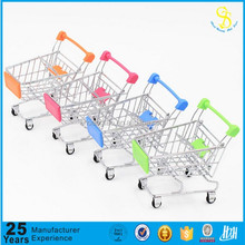 Low Price metal mini storage handcart shopping trolley model toy
