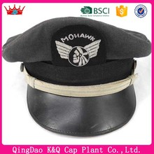 Design your logo high quality wholesale military airline pilot hats