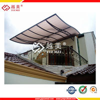 Hot-selling Black/ Brown PC Polycarbonate Canopies and used Awnings