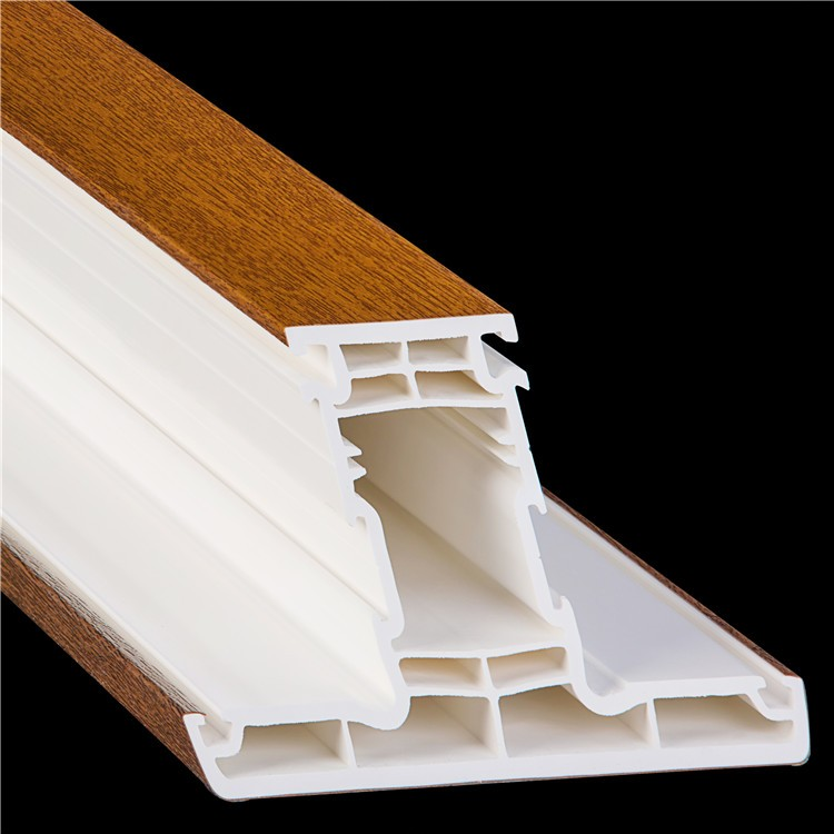Beidi brand crown 65 series five chambers wood-laminated upvc mullion for windows and doors from China manufacture
