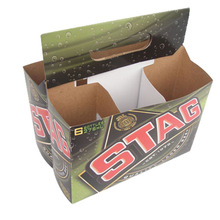 4 pack paper beer carrier box