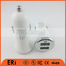 2017 hot sales ABS PC OEM EU AU UK US socket 2 usb portable micro usb charger for car