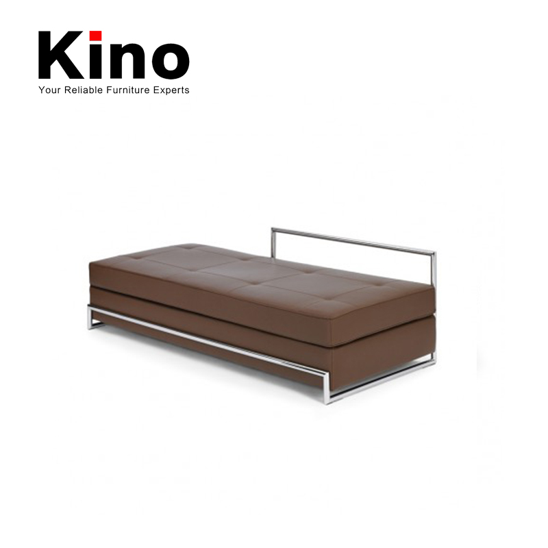 Hot selling metal frame leather sofa bed, folding sofa bed home furniture
