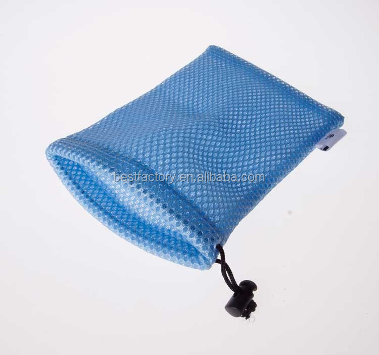 cell phone nylon mesh drawsting pouch bag, for general mobile 4g phone bag case, mesh soap saver pouch