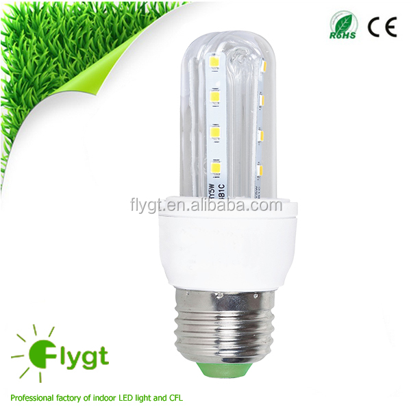 Cheap indoor 3U 4U shape led lighting bulb