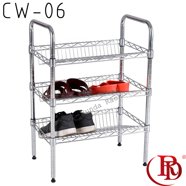 amazing pull out wrought iron shoe rack