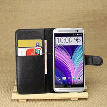 Wallet Style PU Leather Cover 2 Credit Card Stand Flip Case For HTC One M8