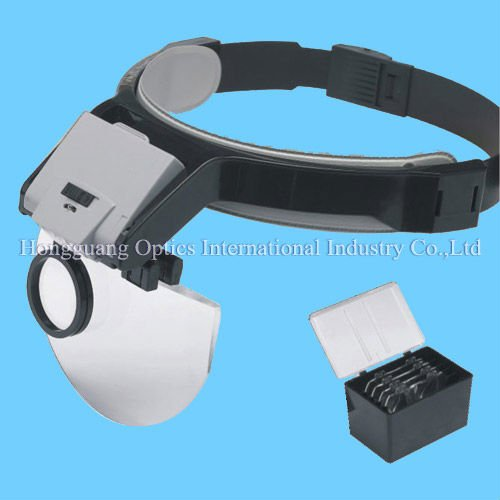 LED Head magnifier/magnifier lamp/illuminated magnifier