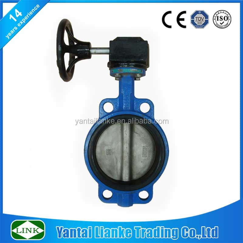 cast iron gg25 body 10 inch flange wafer butterfly valve
