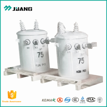 Oil insulating pole mounted single phase 10KV 100KVA step down voltage power distribution transformers