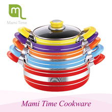 Cina hot sale colorful aluminium cookware set