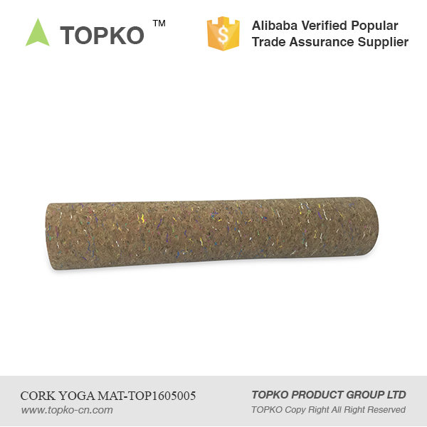2016 TOPKO Wholesale New Product Private Label Eco Cork mat for Yoga