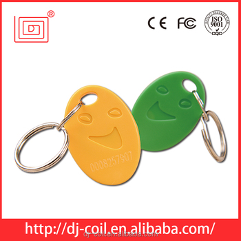 Customied design rfid read and write rfid keyfob/key tag