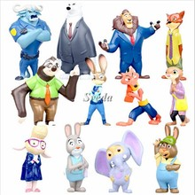 (New Arrival) 2016 Hot Movie 12pcs Zootopia Figure, Crazy Animal City action figure PVC doll Kids Toy