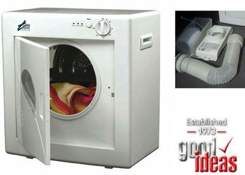 Compact Table Top White Tumble Dryer - Ideal for smaller loads, flats, caravans, students