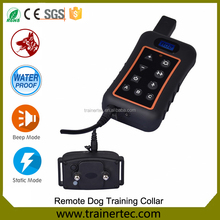 Remote Controlled Dog Training Collar, Rechargeable and Waterproof, All Size Dogs (10Lbs - 100Lbs), 4000 Foot Range