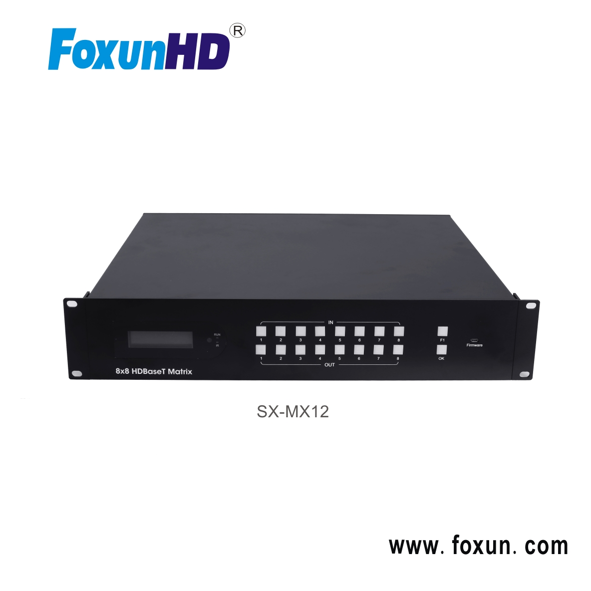 New HDBaseT 8x8 70m Matrix Support 4K@60Hz,YUV4:2:0, with audio in and out